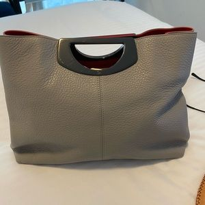 Christian loub grey leather bag  great condition